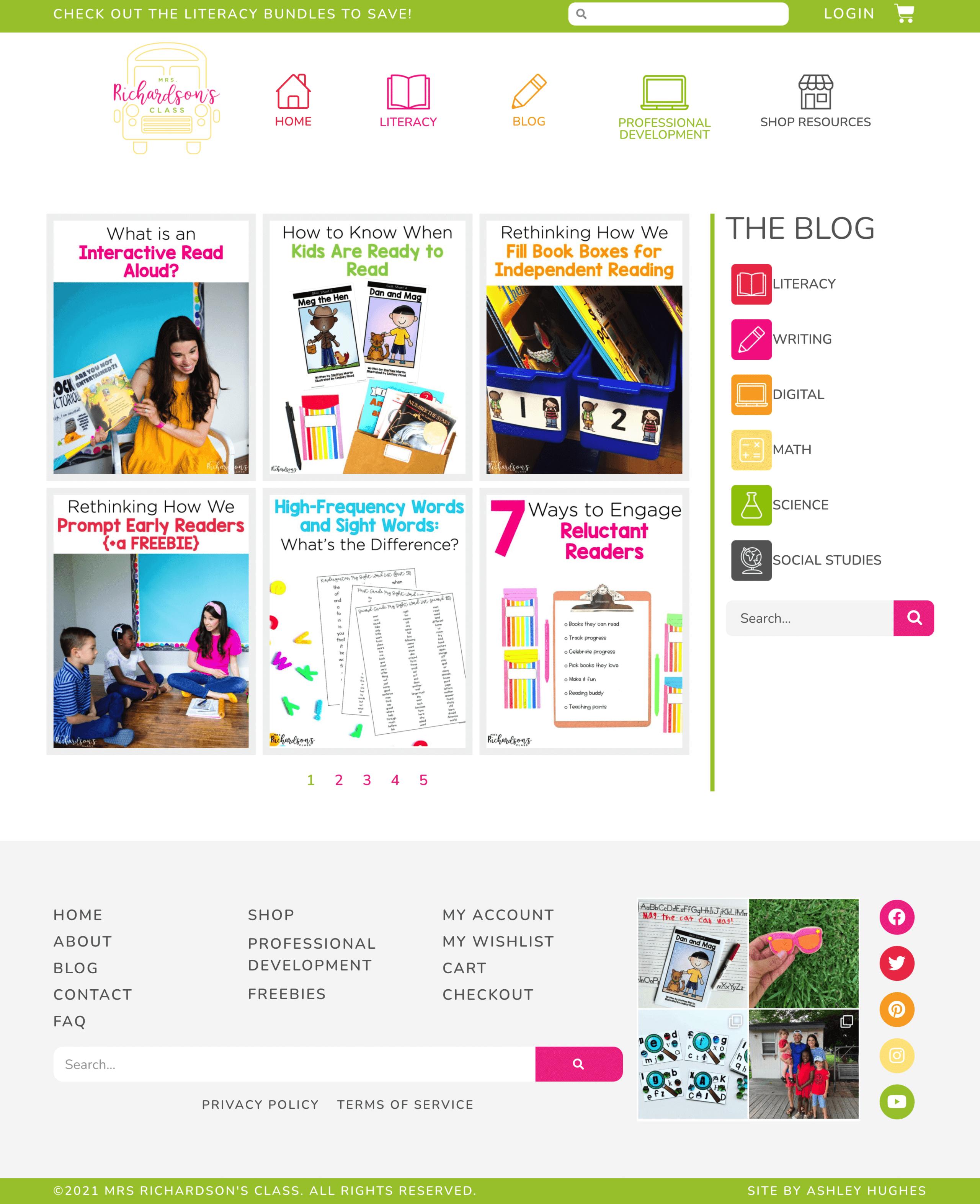 Mrs Richardsons Class Website_blog